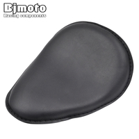 BJMOTO Motorcycle Retro Cafe Racer Seat Leather Solo Slim Seat Mount For Harley Sportster XL883 XL