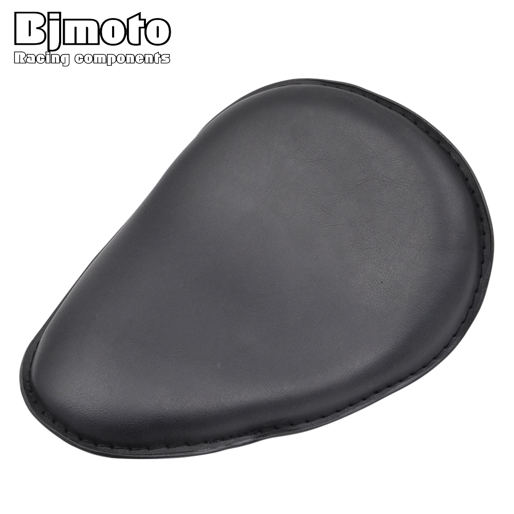 BJMOTO Motorcycle Retro Cafe Racer Seat Leather Solo Slim Seat Mount for Harley Sportster XL883 XL 1200 Bobber Chopper motorcycle chrome front spoiler chin fairing for harley sportster xl883 1200 04 15 new