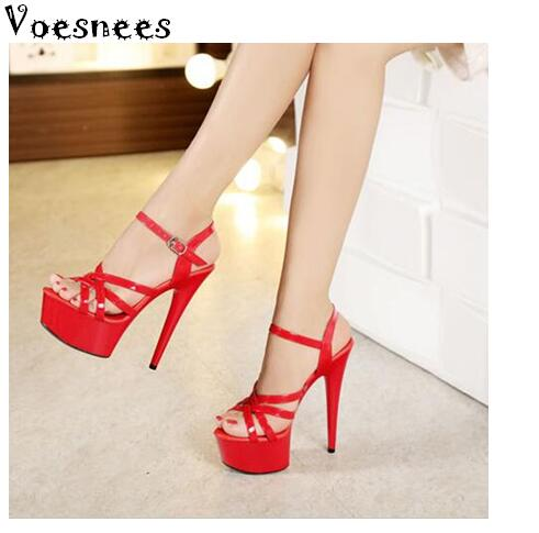Steel Pipe Dance Shoes Women fine with high-heels 15cm Female Sexy Platforms Sandals Shoes Show Lady superb high-heeled Sandals sexy temptation to 18 centimeters nightclub high heeled shoes catwalk show reception appeal colourful shoes dance shoes