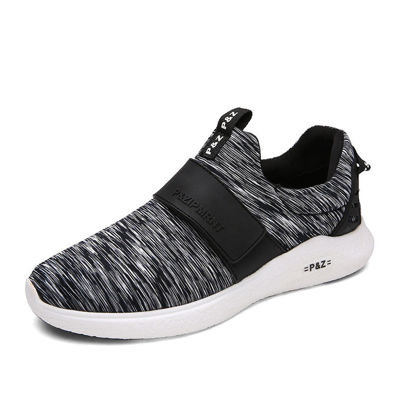 Summer Running Shoes Mixed Color Men Sneaker Hard-Wearing Antiskid Breathable Trainers Shoes Slip-on Flats For Men