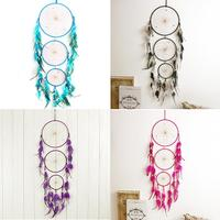 New Fashion 4 Styles Indian Blue Dream Catcher Wind Chime Net With Feathers Wall Hanging Dreamcatcher