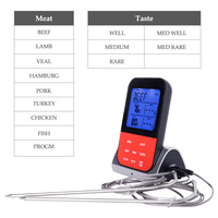 Wireless Dual Probe Electronic Barbecue Thermometer Home Kitchen Thermometer for Oven, Barbecue, Kitchen Stove