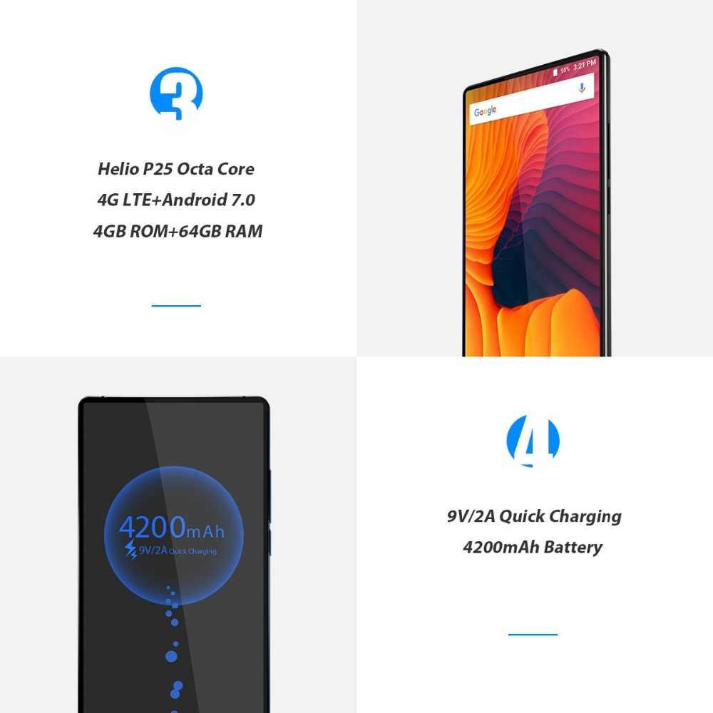 """Smartphone d'origine 2 4G LTE 4GB 64GB RAM ROM 6.0 """"2160x1080 écran Android Octa Core double caméra arrière téléphone portable"""