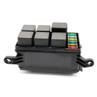 12 Slot Fuse Relay Box with 12V 40A Relay Fuses for Automotive Marine Car Styling