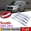 Для Fiat Scudo 2007 ~ 2016 хромированные дверные ручки крышки наклейки на автомобиль отделка комплект 2008 2009 2010 2011 2012 2013 2014 2015