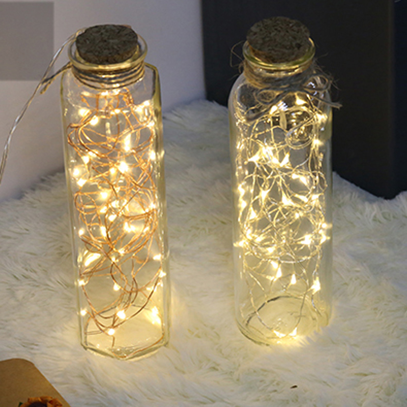 Led Vase String Light Waterproof Button Battery Operated