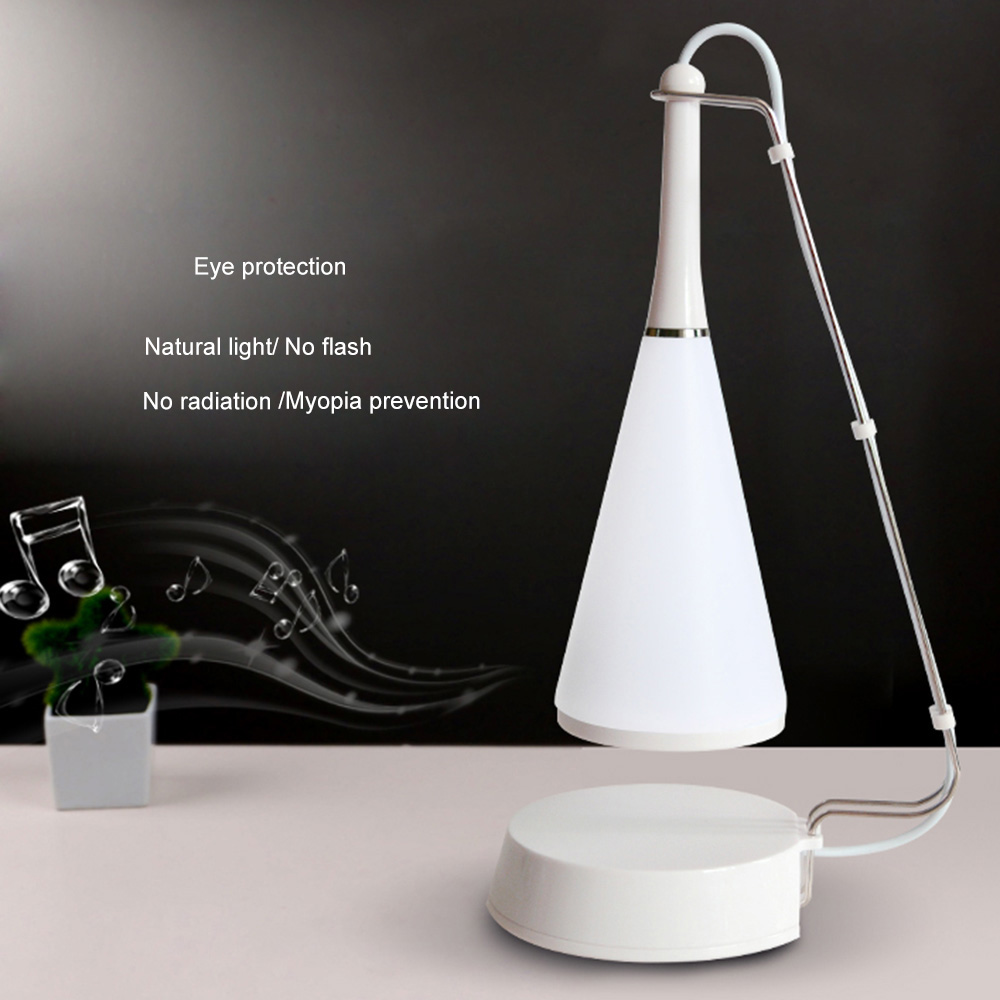 Adjusted Audio Desk Lamp With Audio Cable USB Charging Night Light LED Touch Sensor Table Lamp Bluetooth Speaker Light