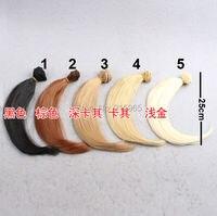 10 Pieces Lot Wholesales 25cm 100CM Brown Flaxen Coffe Black Light Gold Color Hair Welf Fringe
