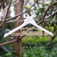 Personalized Wedding Hanger with Date , Bridal Bride Hanger, Custom Dress Hanger,Rusic Wood Hanger