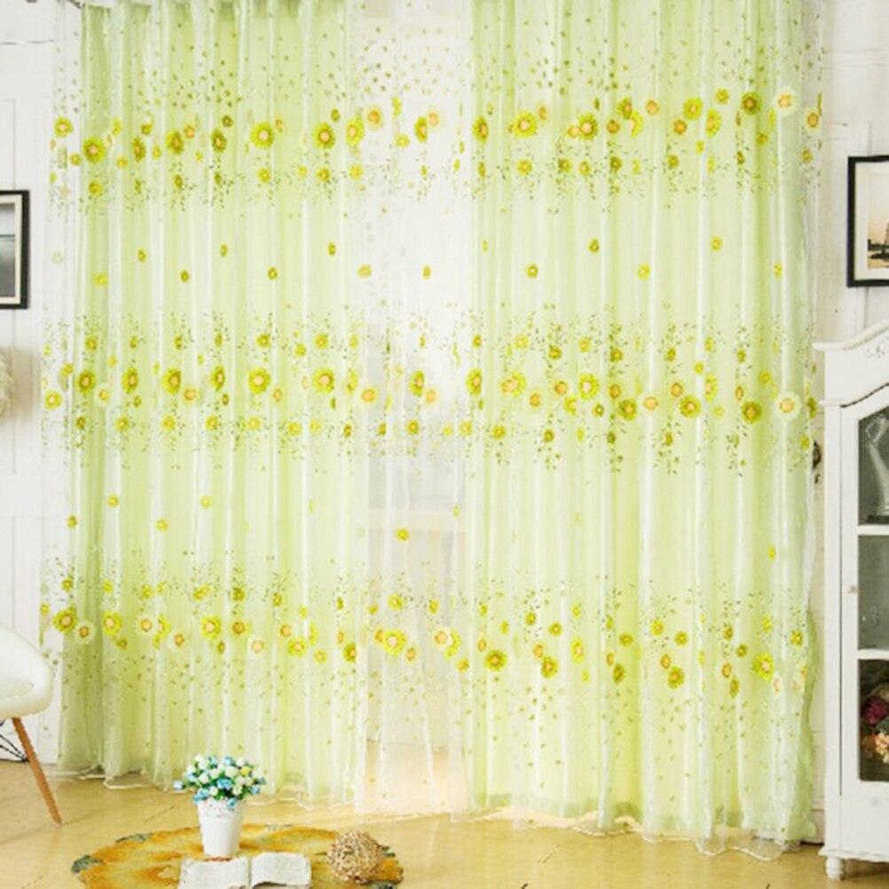 girasol escarpado tulle cortinas para la sala de estar dormitorio cocina moderna ventana de cortinas y
