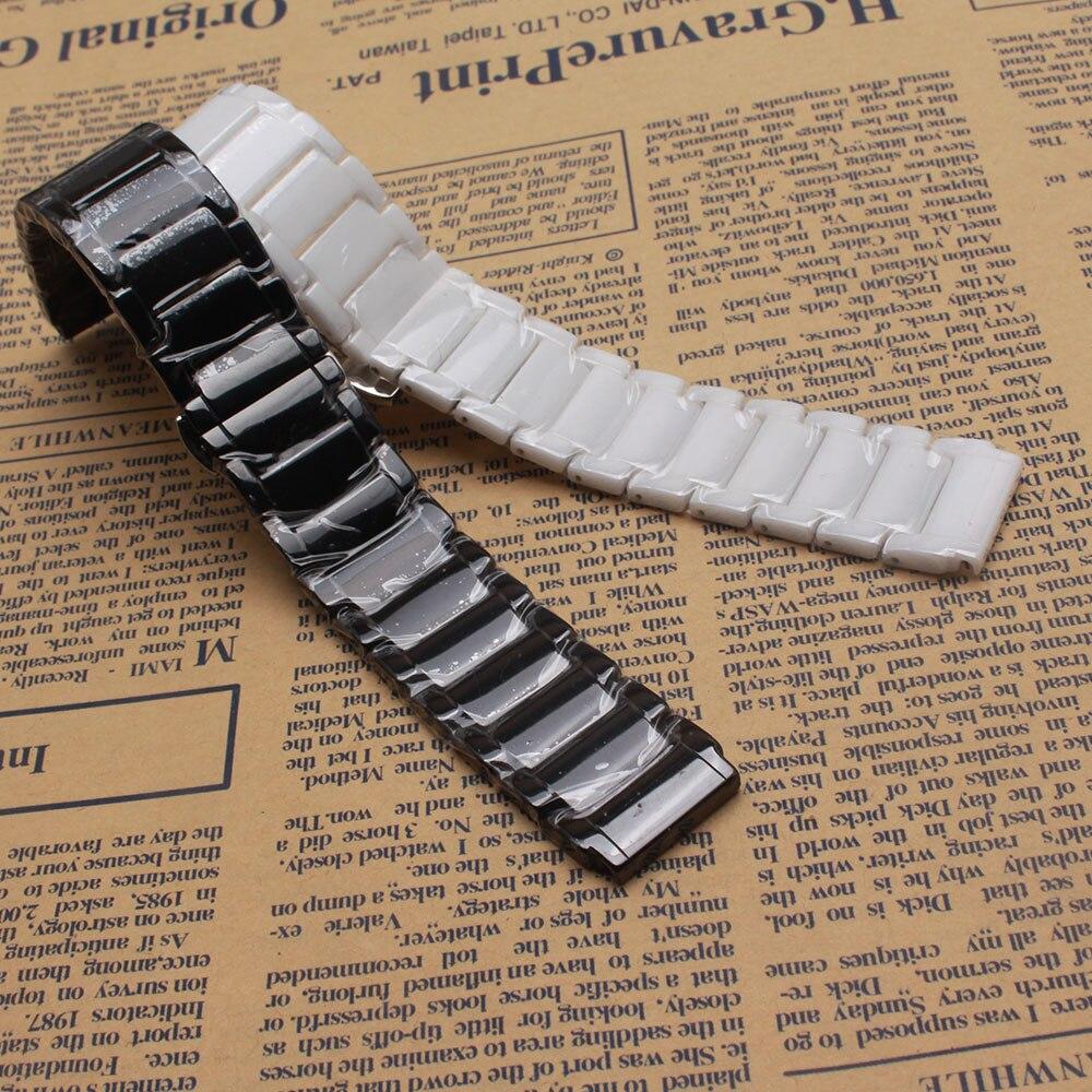 Watchband ceramic strap belt fit HUAWEI watchband 21*18mm MEN's watch Strap bracelet black white iWatch accessories promotion