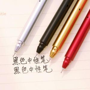 Image 2 - Jonvon Satone 50 шт., креативная гелевая ручка с металлической ручкой, ручки для письма, канцелярские принадлежности, Canetas Material Escolar, канцелярские принадлежности