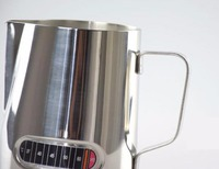 Free Shipping Stainless Steel Coffee Pitcher with therometer on the surface 600ml