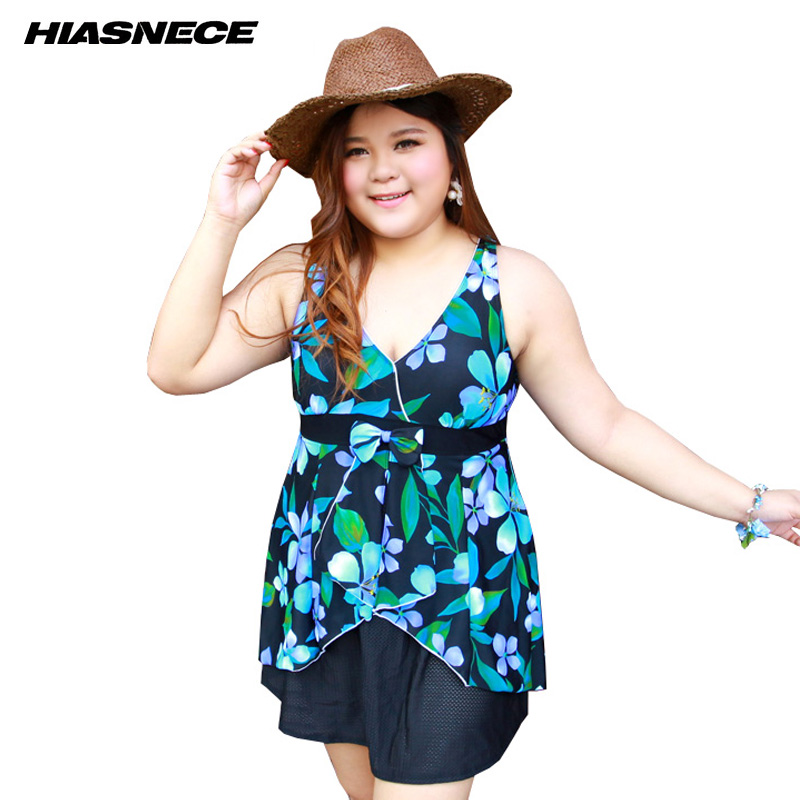 Women Plus size one piece swimsuit dress colorful floral printed deep v-neck female push up bra swimwear bathing suits beachwear women one piece triangle swimsuit cover up sexy v neck strappy swimwear dot dress pleated skirt large size bathing suit 2017