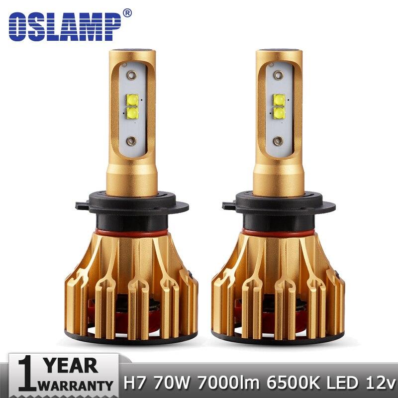 Oslamp H7 LED Auto Scheinwerfer Lampen SMD 70 watt 7000LM 6500 karat Auto Scheinwerfer Led Licht Led-lampe 12 v 24 v für HYUNDAI VW GOLF SKODA TOYOTA