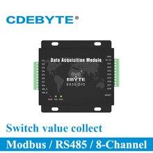 Acquisition de Signal numérique Modbus RTU RS485 E830 DIO (485 8A) Collection de quantité de commutateur de serveur de Port série à 8 canaux