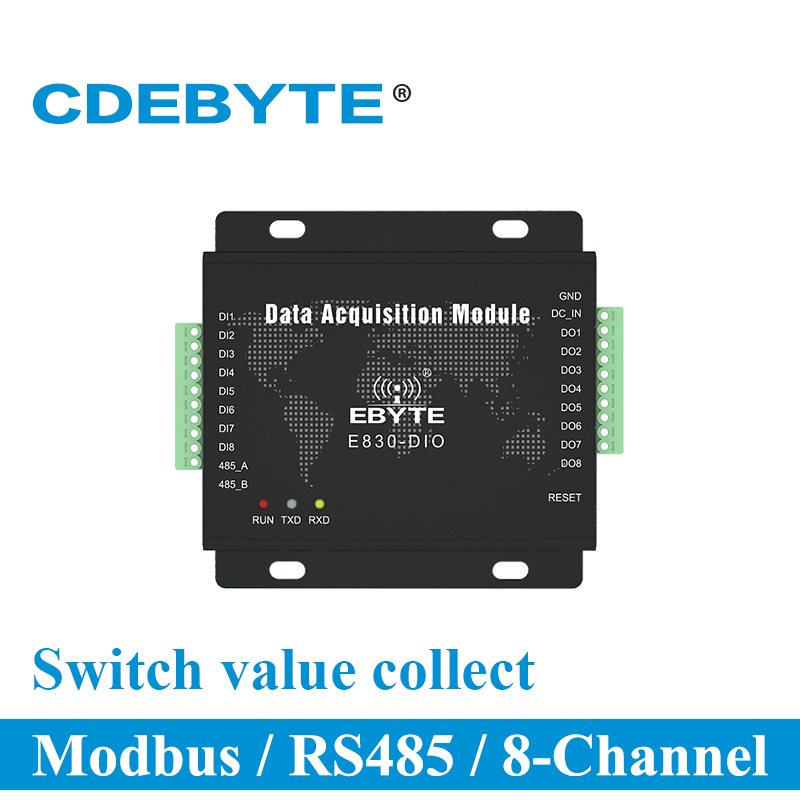 Digital Signal Acquisition Modbus RTU RS485 E830-DIO(485-8A) 8 Channel Serial Port Server Switch Quantity CollectionDigital Signal Acquisition Modbus RTU RS485 E830-DIO(485-8A) 8 Channel Serial Port Server Switch Quantity Collection