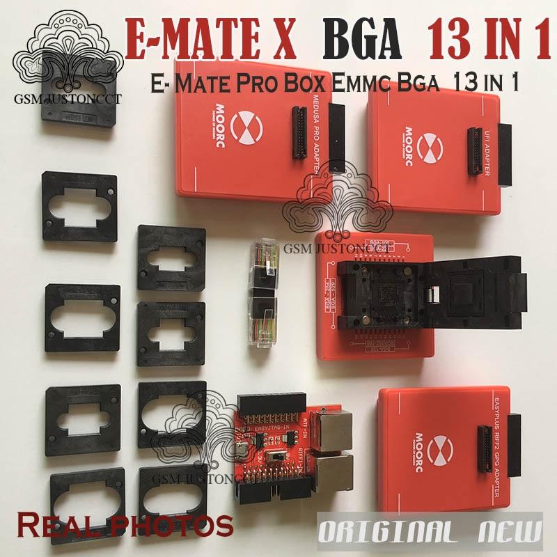 ORIGINALE NUOVO E-MATE X 13 IN 1 set/EMATE PRO/E-MATE/E-SOCKET ALL IN 1 Supporto BGA100 /136/168/153/169/162/186/221/529/254