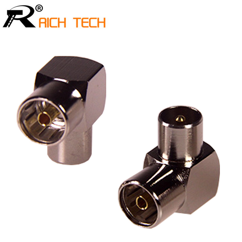 DVB-T TV PAL Female to Male Right Angle RF Adapter Connector 90degree elbow TV male to TV female connector Gold plated plug 3pcs tejinder pal singh rf mems a technological aspect