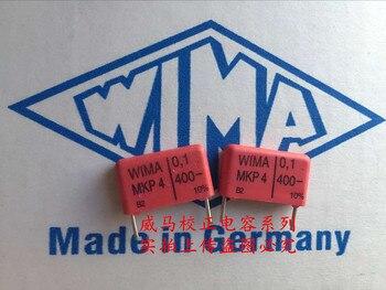 цена на 2019 hot sale 10pcs/20pcs German capacitor WIMA MKP4 400V 0.1UF 400V 104 100N P: 15mm Audio capacitor free shipping