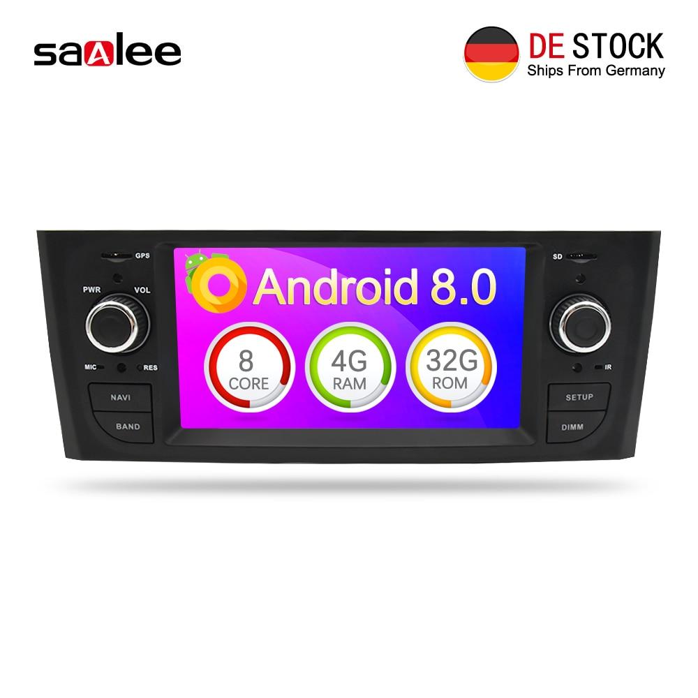 Autoradio 4G RAM Android 8.0 Voiture Radio Numérique Lecteur Bluetooth Multimédia Pour Fiat Grande Punto Linea 2006-2012 tête unité