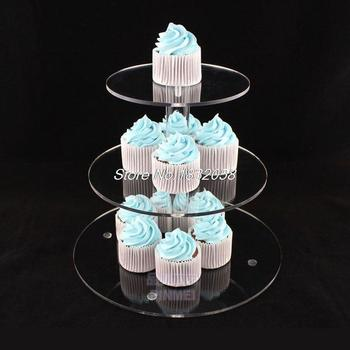 [Free Shipping]3 Tier Transparent Acrylic Cupcake Stand Party / Wedding / Festival Supplies