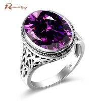Groothandel Oostenrijkse Crystal Ring Paars Steen Mode Vrouwen Mannen Bruiloft Sieraden 925 Sterling Zilveren Verlovingsringen Bague Femme