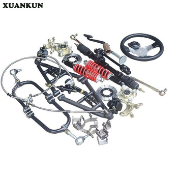 XUANKUN  DIY Self - Made Four - Round Karting Parts Modified Electric Vehicle Front Axle Suspension Steering Brake Drive System
