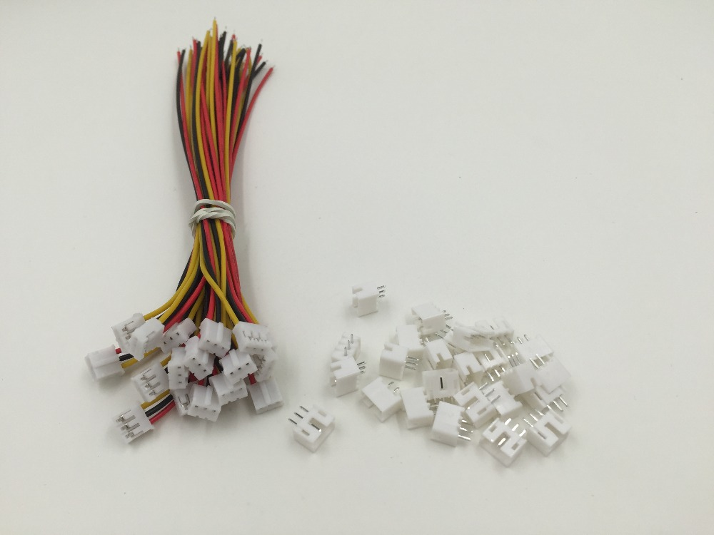 Hot Sale Factory Direct 5 SETS Mini Micro <font><b>JST</b></font> <font><b>2.0</b></font> <font><b>PH</b></font> <font><b>3</b></font>-<font><b>Pin</b></font> Connector plug with Wires Cables 150MM image