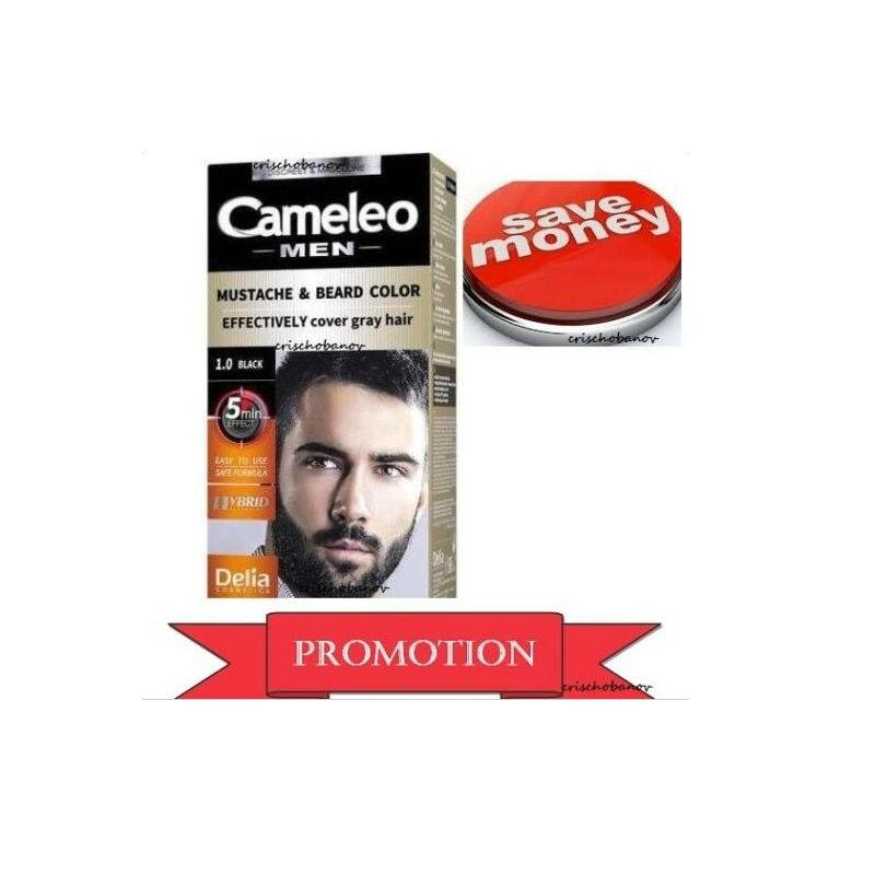Cameleo Men Color Cream Mustache & Beard Color Effectively Cover ...