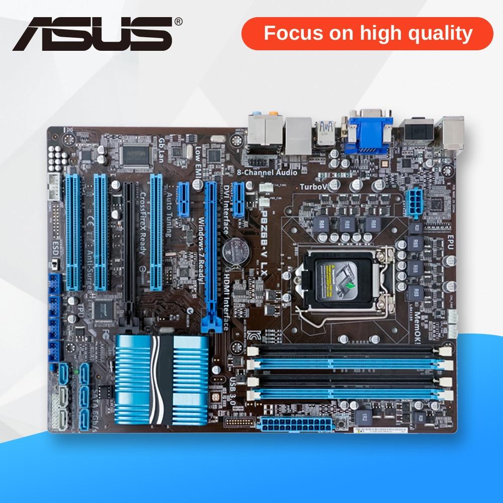 Asus P8Z68-V LX Desktop Motherboard Z68 Socket LGA 1155 i3 i5 i7 DDR3 32G SATA3 USB3.0 ATX msi h77ma g43 original used desktop motherboard h77 socket lga 1155 i3 i5 i7 ddr3 32g sata3 micro atx