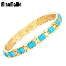 Balance Anti-fatigue Healing Magnetic Copper Bracelets & Bangle for Women Bio Energy Magnet Natural Stone Bracelets Jewelry