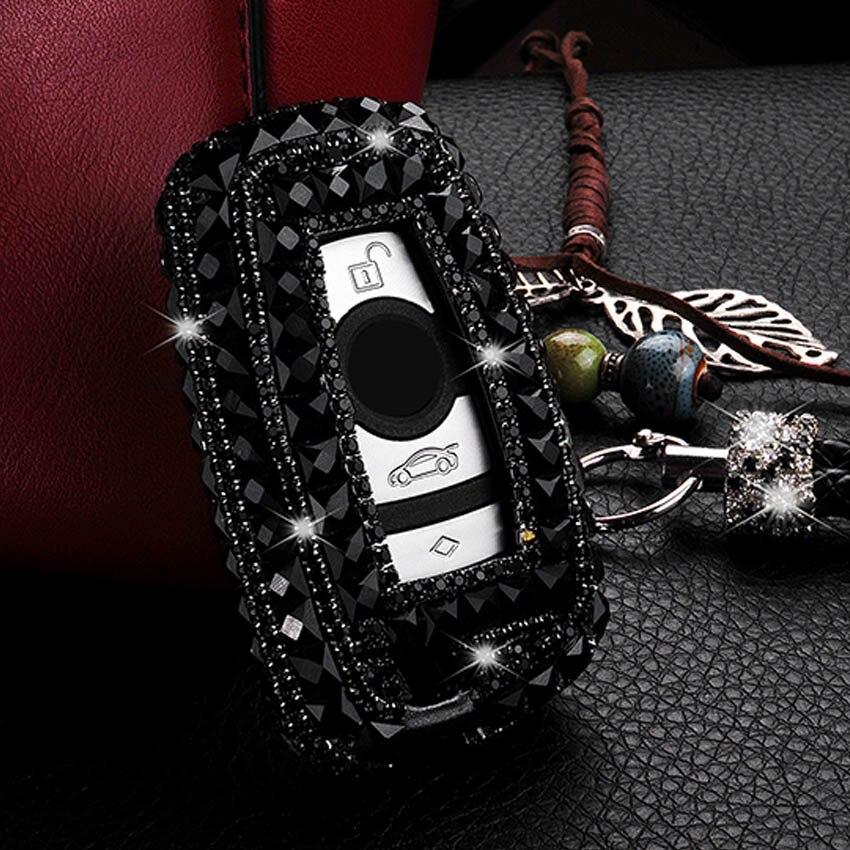 Diamant Brillant À La Main Femme De Luxe Voiture Clé Housse pour BMW 1 3 5 6 7 Série X3 X4 X5 2016 2015 2014 2013 2012