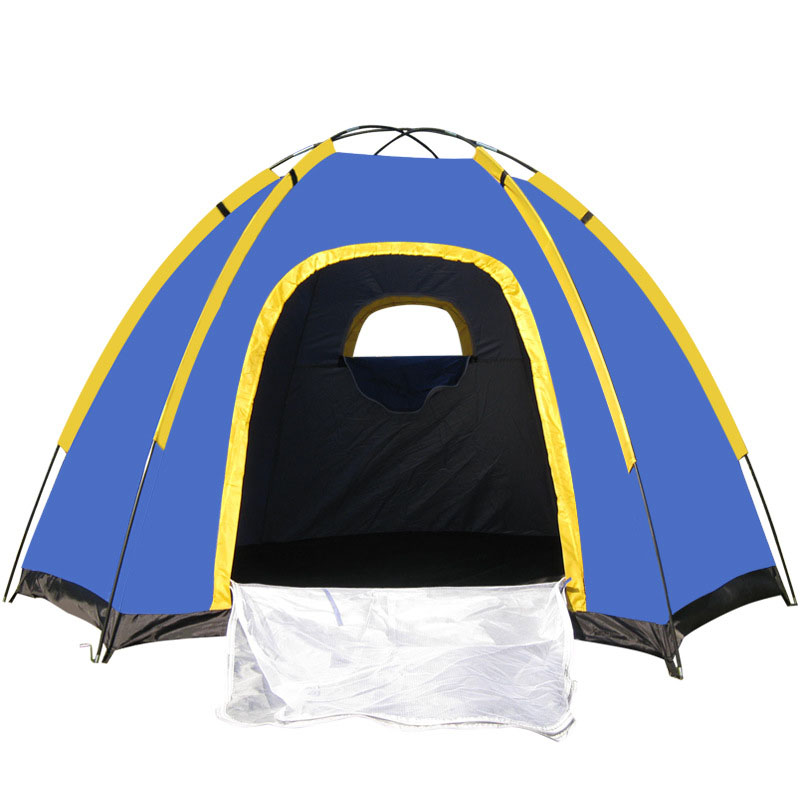 High Quality Folding Travel Waterproof Hiking Travel Camping Tents Outdoor Tent 3-4 People Tourism Tents At6503 Hexagonal Beach mobi outdoor camping equipment hiking waterproof tents high quality wigwam double layer big camping tent