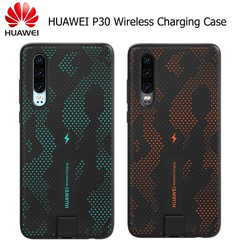 Coque de charge sans fil HUAWEI P30 d'origine officielle Huawei CNR216 TUV Qi 10 W coque arrière magnétique prend en charge le support de voiture ELE-L09/L29