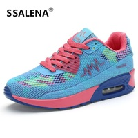 Women Breathable Height Increasing Shoes Classic Lace Up Soft Footwear Women Casual Flats Shoes Size Eu 35 40 AA40021