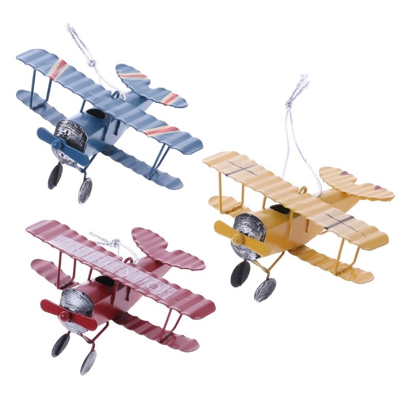 Small metal airplane ornaments Birthday Cake Party Decorations for Baking Cute Gifts image