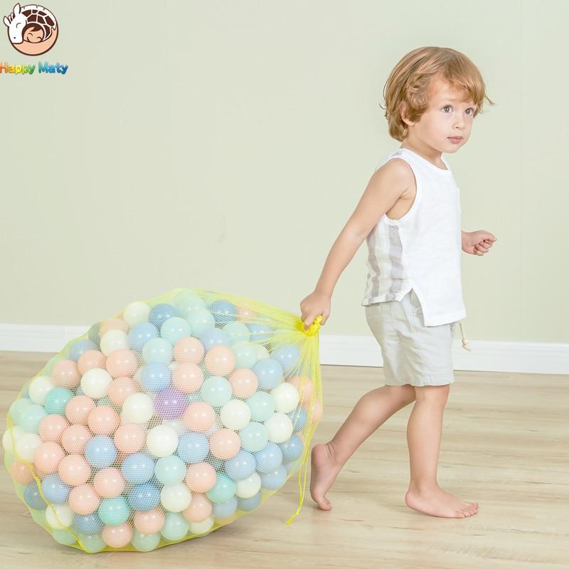 50 unidades o 100 Bolas de plástico coloriunids juguetes bolas de agua océano suave para la piscina bebé natación Pit juguetes al aire libre deporte pelota de aire