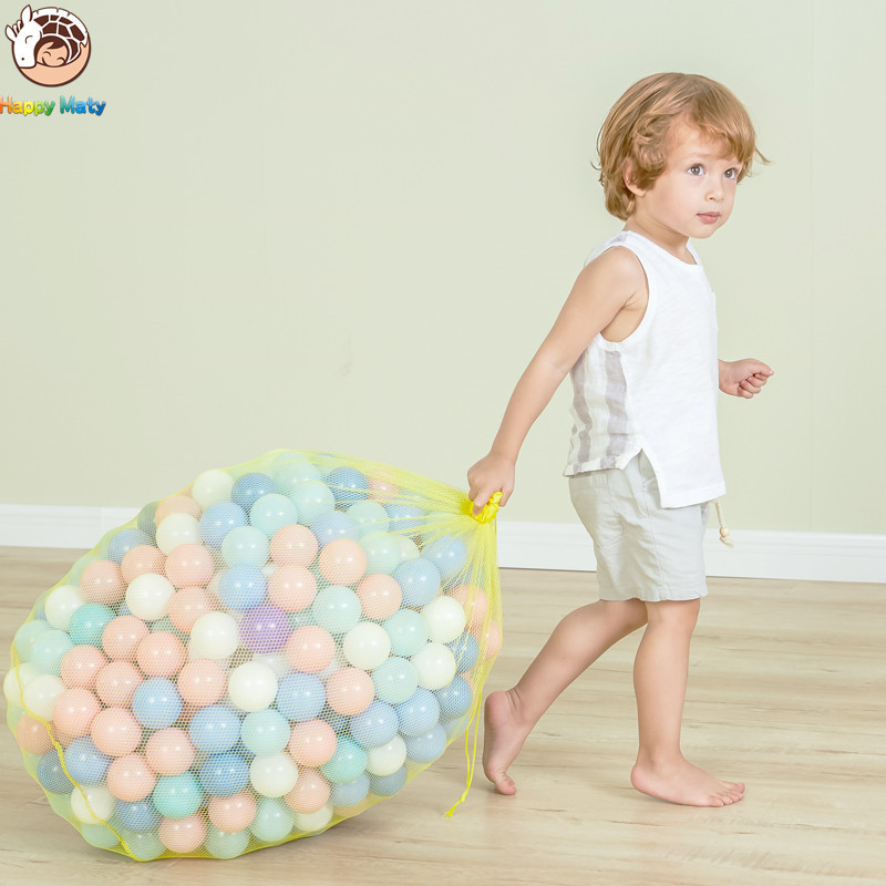 Happymaty 50 pcs lot Eco-Friendly Colorful Balls Plastic Ocean Balls Funny Baby Kid Swim Pit Toy Water Pool Ocean Wave Balls 7cm