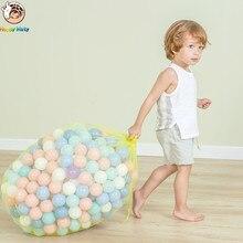 Купить с кэшбэком Happymaty 50 pcs lot Eco-Friendly Colorful Balls Plastic Ocean Balls Funny Baby Kid Swim Pit Toy Water Pool Ocean Wave Balls 7cm