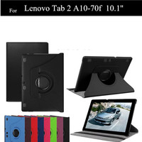 NEW Lichee Pattern PU Leather Tab 2 A10 70F Stand Case For Lenovo Tab 2 A10