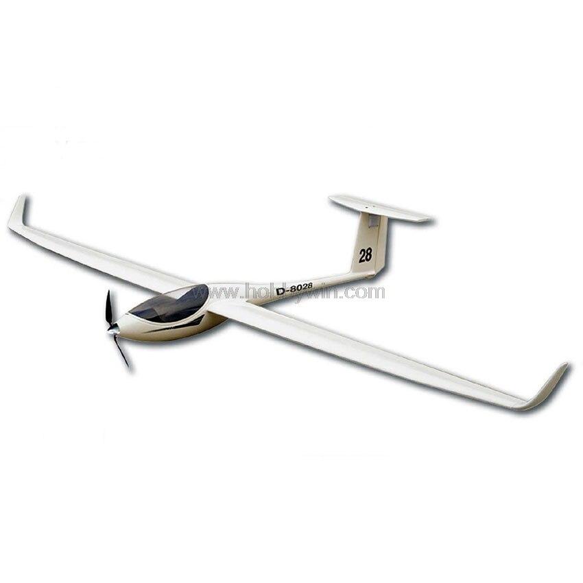 RC самолет ASW-28 Электрический планер 2530 мм стекловолокна фюзеляжа дерево снят wing модель планера