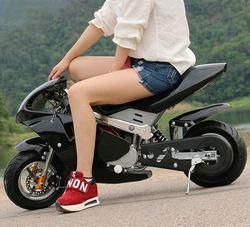 4-тактный 49cc двухколесный маленький внедорожный горный мини мотоцикл, детский мопед с бензиновой картой