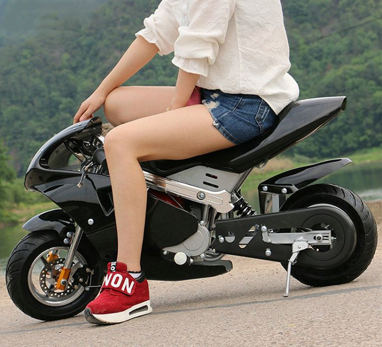 4-stroke 49cc Two-wheel Small Off-road Mountain Mini Motorcycle Child Petrol Card Moped