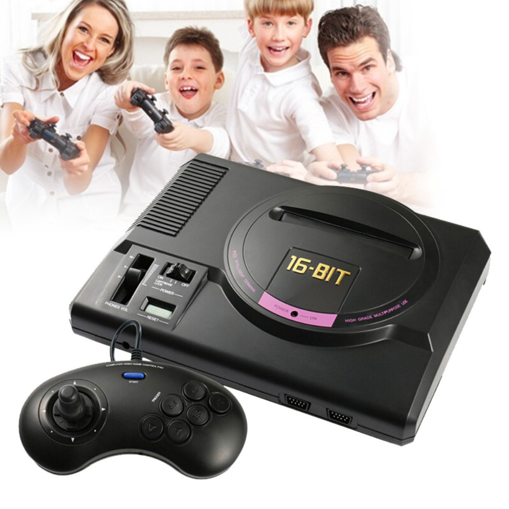 US Plug HDMI Video Game Player 16-Bit MD Nostalgia Gaming Console with Double 2.4G Wireless Controllers Retro Style Design бюстгальтер 3 штуки quelle quelle 962363