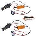 2 шт. 1156 BA15S BAU15S PY21W T20 T25 двойной Цвет белый янтарь горки светодио дный указатель поворота ошибок Canbus с резистор DRL