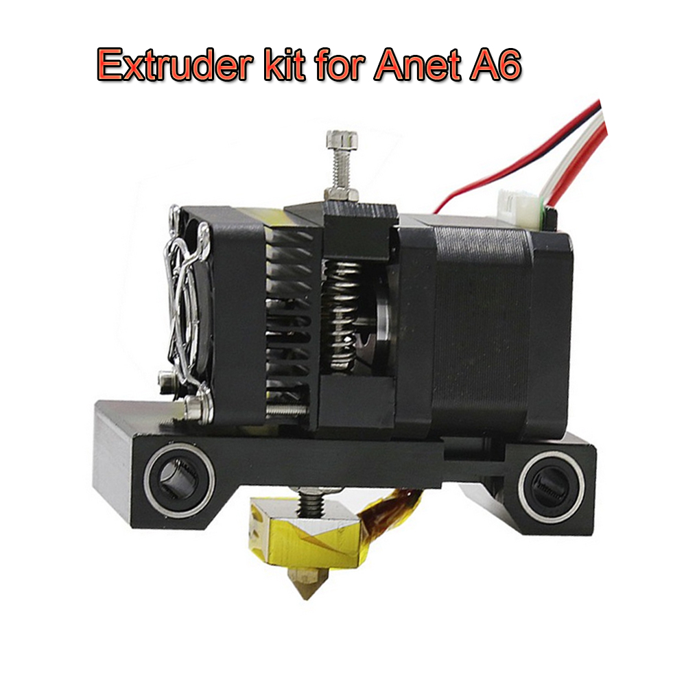 3D Printer Head MK8 Extruder Kit J head Hotend Nozzle Feed Inlet Diameter 1.75 Filament Extra Throat Gift For Anet A6