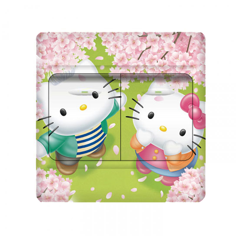 The sales leader cute New Cat Stickers on the wall light switch decor stickers Books on the art of painting the child Childrens