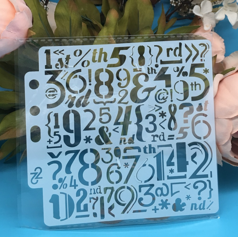 5.1inch New Number Digit DIY Layering Stencils Wall Painting Scrapbook Coloring Embossing Album Decorative Card Template