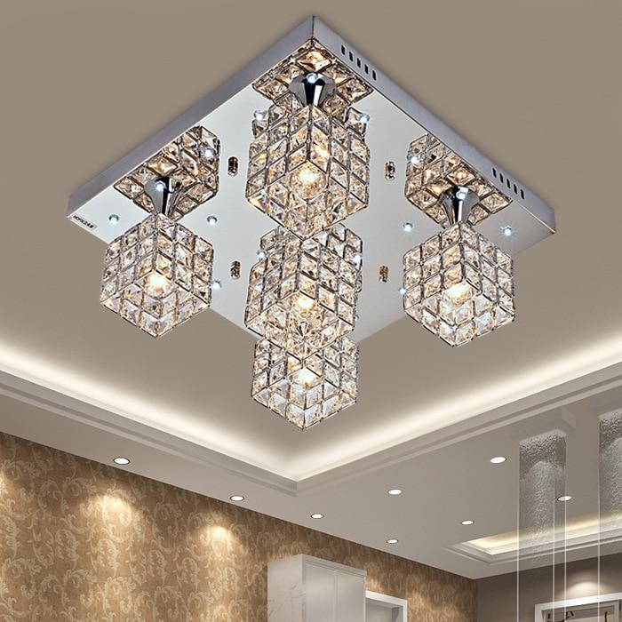 Humphrey Simple Modern K9 Crystal Creative Led Ceiling Lights Lamp Bedroom Living Room Dining Lighting